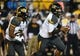 Oct 5, 2013; Nashville, TN, USA; Missouri Tigers quarterback James Franklin (1) runs with the ball against the Vanderbilt Commodores during the first half at Vanderbilt Stadium. Mandatory Credit: Don McPeak-USA TODAY Sports