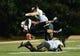 Oct 5, 2013; Nashville, TN, USA; Vanderbilt Commodores quarterback Austyn Carter-Samuels (6) is tackled by Missouri Tigers linebacker Andrew Wilson (48) and defensive back Randy Porter (7) during the first half at Vanderbilt Stadium. Mandatory Credit: Don McPeak-USA TODAY Sports