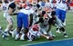 Oct 5, 2013; El Paso, TX, USA; Louisiana Tech Bulldogs wide receiver Andrew Guillot (19) scores a touchdown against the UTEP Miners at Sun Bowl Stadium. Mandatory Credit: Ivan Pierre Aguirre-USA TODAY Sports