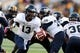 Oct 5, 2013; Hattiesburg, MS, USA; FIU Golden Panthers quarterback E.J. Hilliard (13) hands off to running back Lamarq Caldwell (36) during the second half of their game against the Southern Miss Golden Eagles at M.M. Roberts Stadium. FIU won 24-23. Mandatory Credit: Chuck Cook-USA TODAY Sports