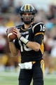Oct 5, 2013; Hattiesburg, MS, USA; Southern Miss Golden Eagles quarterback Allan Bridgford (16) looks to throw against the FIU Golden Panthers during the second half at M.M. Roberts Stadium. FIU won 24-23. Mandatory Credit: Chuck Cook-USA TODAY Sports