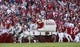 Oct 5, 2013; Norman, OK, USA; The Sooner Schooner on the field during the game TCU Horned Frogs at Gaylord Family - Oklahoma Memorial Stadium. The Oklahoma Sooners beat the TCU Horned Frogs 20-17.  Mandatory Credit: Tim Heitman-USA TODAY Sports