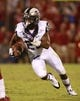 Oct 5, 2013; Norman, OK, USA; TCU Horned Frogs running back B.J. Catalon (23) runs the ball in the fourth quarter of the game Oklahoma Sooners at Gaylord Family - Oklahoma Memorial Stadium. The Oklahoma Sooners beat the TCU Horned Frogs 20-17. Mandatory Credit: Tim Heitman-USA TODAY Sports