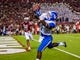 Oct 5, 2013; Columbia, SC, USA; Kentucky Wildcats running back Ryan Timmons (1) makes a touchdown reception in the fourth quarter at Williams-Brice Stadium. Mandatory Credit: Jeff Blake-USA TODAY Sports