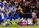 Oct 5, 2013; Columbia, SC, USA; South Carolina Gamecocks wide receiver Bruce Ellington (23) fumbles a kickoff return that is recovered by the Kentucky Wildcats in the fourth quarter at Williams-Brice Stadium. Mandatory Credit: Jeff Blake-USA TODAY Sports