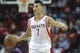 Oct 5, 2013; Houston, TX, USA; Houston Rockets point guard Jeremy Lin (7) brings the ball up the court during the third quarter against the New Orleans Pelicans at Toyota Center. Mandatory Credit: Troy Taormina-USA TODAY Sports
