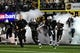 Oct 5, 2013; Nashville, TN, USA; The Vanderbilt Commodores run onto the field before a game against the Missouri Tigers at Vanderbilt Stadium. The Tigers beat the Commodores 51-28. Mandatory Credit: Don McPeak-USA TODAY Sports