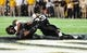 Oct 5, 2013; Nashville, TN, USA; Missouri Tigers wide receiver Marcus Lucas (85) makes a touchdown catch against the Vanderbilt Commodores corner back Andre Hal (23) during the second half at Vanderbilt Stadium. The Tigers beat the Commodores 51-28. Mandatory Credit: Don McPeak-USA TODAY Sports