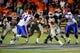 Oct 5, 2013; El Paso, TX, USA; UTEP quarterback Jameill Showers (1) runs the ball against the Louisiana Tech Bulldogs at Sun Bowl Stadium. Mandatory Credit: Ivan Pierre Aguirre-USA TODAY Sports