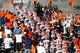 Oct 5, 2013; El Paso, TX, USA; UTEP Miners come out of the locker room before facing the Louisiana Tech Bulldogs at Sun Bowl Stadium. Mandatory Credit: Ivan Pierre Aguirre-USA TODAY Sports