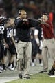 Oct 5, 2013; Stanford, CA, USA; Stanford Cardinal head coach David Shaw calls a play against the Washington Huskies in the third quarter at Stanford Stadium.The Cardinal defeated the Huskies 31-28. Mandatory Credit: Cary Edmondson-USA TODAY Sports