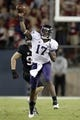 Oct 5, 2013; Stanford, CA, USA; Washington Huskies quarterback Keith Price (17) throws the ball against the Stanford Cardinal in the third quarter at Stanford Stadium.The Cardinal defeated the Huskies 31-28. Mandatory Credit: Cary Edmondson-USA TODAY Sports
