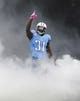 Oct 6, 2013; Nashville, TN, USA; Tennessee Titans safety Bernard Pollard (31) is introduced before a game against the Kansas City Chiefs at LP Field. The Chiefs beat the Titans 26-17. Mandatory Credit: Don McPeak-USA TODAY Sports