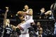 Oct 7, 2013; St. Louis, MO, USA; Chicago Bulls point guard Derrick Rose (1) goes for a lay up during the first quarter against Memphis Grizzlies power forward Jon Leuer (30) at Scottrade Center. Mandatory Credit: Jeff Curry-USA TODAY Sports