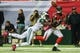 Oct 7, 2013; Atlanta, GA, USA; New York Jets cornerback Antonio Cromartie (31) breaks up a pass intended for Atlanta Falcons wide receiver Julio Jones (11) in the second half at the Georgia Dome. The Jets won 30-28. Mandatory Credit: Daniel Shirey-USA TODAY Sports