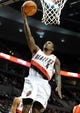 Oct 7, 2013; Portland, OR, USA; Portland Trail Blazers point guard Dee Bost (4) drives to the basket during the third quarter of the game against the Los Angeles Clippers  at Moda Center. Mandatory Credit: Steve Dykes-USA TODAY Sports
