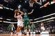 Oct 7, 2013; Phoenix, AZ, USA; Phoenix Suns center Viacheslav Kravtsov (55) is guarded by Haifa forward Brian Randle (15) in the second half at US Airways Center. The Suns defeated Haifa 130 to 89.  Mandatory Credit: Jennifer Stewart-USA TODAY Sports
