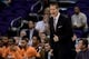 Oct 7, 2013; Phoenix, AZ, USA; Phoenix Suns head coach Jeff Hornacek reacts from the sidelines in the game against Haifa at US Airways Center. The Suns defeated Haifa 130 to 89.  Mandatory Credit: Jennifer Stewart-USA TODAY Sports