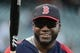 August 19, 2013; San Francisco, CA, USA; Boston Red Sox designated hitter David Ortiz (34) walks out of the batting cage during batting practice before the game against the San Francisco Giants at AT&T Park. The Red Sox defeated the Giants 7-0. Mandatory Credit: Kyle Terada-USA TODAY Sports