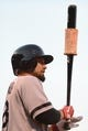 August 19, 2013; San Francisco, CA, USA; Boston Red Sox right fielder Shane Victorino (18) stands on the on-deck circle during the second inning against the San Francisco Giants at AT&T Park. The Red Sox defeated the Giants 7-0. Mandatory Credit: Kyle Terada-USA TODAY Sports