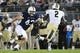Sep 14, 2013; University Park, PA, USA; Penn State Nittany Lions linebacker Mike Hull (43) attempts to stop Central Florida Knights wide receiver Jeff Godfrey (2) during the third quarter at Beaver Stadium. Central Florida defeated Penn State 34-31. Mandatory Credit: Matthew O'Haren-USA TODAY Sports