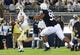 Sep 14, 2013; University Park, PA, USA; Central Florida Knights quarterback Blake Bortles (5) runs the ball during the third quarter against the Penn State Nittany Lions at Beaver Stadium. Central Florida defeated Penn State 34-31. Mandatory Credit: Matthew O'Haren-USA TODAY Sports
