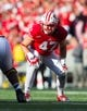 Sep 21, 2013; Madison, WI, USA;  Wisconsin Badgers linebacker Vince Biegel (47) during the game against the Purdue Boilermakers at Camp Randall Stadium. Wisconsin defeated Purdue 41-10.  Mandatory Credit: Jeff Hanisch-USA TODAY Sports