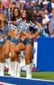 Sep 29, 2013; Orchard Park, NY, USA; Buffalo Bills cheerleaders perform during a game against the Baltimore Ravens at Ralph Wilson Stadium. Bills beat Ravens 23 to 20.  Mandatory Credit: Timothy T. Ludwig-USA TODAY Sports