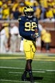 Sep 14, 2013; Ann Arbor, MI, USA; Michigan Wolverines quarterback Devin Gardner (98) before the game against the Akron Zips at Michigan Stadium. Mandatory Credit: Rick Osentoski-USA TODAY Sports