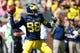 Sep 14, 2013; Ann Arbor, MI, USA; Michigan Wolverines quarterback Devin Gardner (98) passes the ball in the first quarter against the Akron Zips at Michigan Stadium. Mandatory Credit: Rick Osentoski-USA TODAY Sports