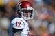 Oct 5, 2013; Berkeley, CA, USA; Washington State Cougars quarterback Connor Halliday (12) during the game against the California Golden Bears at Memorial Stadium. Washington State defeated California 44-22. Mandatory Credit: Kirby Lee-USA TODAY Sports