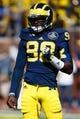Sep 14, 2013; Ann Arbor, MI, USA; Michigan Wolverines quarterback Devin Gardner (98) before the game against the Akron Zips at Michigan Stadium. Mandatory Credit: Rick Osentoski-USA TODAY Sports