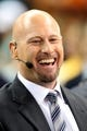 Sep 30, 2013; New Orleans, LA, USA; Former quarterback and ESPN NFL analyst Trent Dilfer laughs on the set of the pre-game show before Monday Night Football game between the New Orleans Saints and the Miami Dolphins at the Mercedes-Benz Superdome. Mandatory Credit: Chuck Cook-USA TODAY Sports