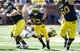 Sep 14, 2013; Ann Arbor, MI, USA; Michigan Wolverines wide receiver Dennis Norfleet (23) runs the ball against the Akron Zips at Michigan Stadium. Mandatory Credit: Rick Osentoski-USA TODAY Sports
