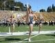 Oct 5, 2013; Berkeley, CA, USA; California Golden Bears cheerleaders perform during the game against the Washington State Cougars at Memorial Stadium.  Mandatory Credit: Kirby Lee-USA TODAY Sports