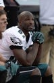 Sep 29, 2013; Denver, CO, USA; Philadelphia Eagles wide receiver Jason Avant (81) on the bench during the fourth quarter of the game against the Denver Broncos at Sports Authority Field at Mile High. The Broncos defeated the Eagles 52-20. Mandatory Credit: Ron Chenoy-USA TODAY Sports