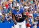 Sep 29, 2013; Orchard Park, NY, USA; Buffalo Bills defensive tackle Marcell Dareus (99) against the Baltimore Ravens at Ralph Wilson Stadium. Mandatory Credit: Timothy T. Ludwig-USA TODAY Sports