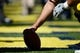 Sep 14, 2013; Ann Arbor, MI, USA; Detail shot of football about to be hiked before the game between the Michigan Wolverines and the Akron Zips at Michigan Stadium. Mandatory Credit: Rick Osentoski-USA TODAY Sports