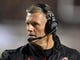 Oct 3, 2013; Salt Lake City, UT, USA; Utah Utes coach Kyle Whittingham reacts during the game against the UCLA Bruins at Rice-Eccles Stadium. Mandatory Credit: Kirby Lee-USA TODAY Sports