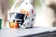 Sep 28, 2013; Tampa, FL, USA; Miami Hurricanes helmet on the sidelines against the South Florida Bulls during the second half at Raymond James Stadium. Miami Hurricanes defeated the South Florida Bulls 49-21. Mandatory Credit: Kim Klement-USA TODAY Sports
