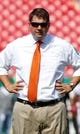 Sep 28, 2013; Tampa, FL, USA; Miami Hurricanes head coach Al Golden against the South Florida Bulls at Raymond James Stadium. Mandatory Credit: Kim Klement-USA TODAY Sports