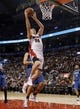 Oct 9, 2013; Toronto, Ontario, CAN; Toronto Raptors forward Tyler Hansbrough (50) goes up to make a basket against the Minnesota Timberwolves during the first half at the Air Canada Centre. Mandatory Credit: John E. Sokolowski-USA TODAY Sports