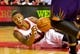 Oct 9, 2013; Portland, OR, USA; Portland Trail Blazers point guard Damian Lillard (0) looks to pass the ball while falling to the floor against the Phoenix Suns at the Moda Center. Mandatory Credit: Craig Mitchelldyer-USA TODAY Sports