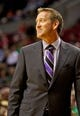 Oct 9, 2013; Portland, OR, USA; Phoenix Suns head coach Jeff Hornacek smiles in the second quarter against the Portland Trail Blazers at the Moda Center. Mandatory Credit: Craig Mitchelldyer-USA TODAY Sports