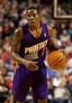Oct 9, 2013; Portland, OR, USA; Phoenix Suns point guard Eric Bledsoe (2) brings the ball up court against the Portland Trail Blazers at the Moda Center. Mandatory Credit: Craig Mitchelldyer-USA TODAY Sports