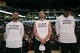 Oct 9, 2013; San Antonio, TX, USA; San Antonio Spurs players (from left) Tony Parker, and Manu Ginobili, and Tim Duncan during the national anthem before the game agains the CSKA Moscow at the AT&T Center. Mandatory Credit: Soobum Im-USA TODAY Sports