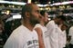 Oct 9, 2013; San Antonio, TX, USA; San Antonio Spurs guard Tony Parker (9) during the national anthem before the game agains the CSKA Moscow at the AT&T Center. Mandatory Credit: Soobum Im-USA TODAY Sports