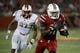 Oct 10, 2013; Louisville, KY, USA; Louisville Cardinals running back Senorise Perry (32) runs the ball against the Rutgers Scarlet Knights during the second quarter at Papa John's Cardinal Stadium. Mandatory Credit: Jamie Rhodes-USA TODAY Sports