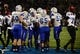 Oct 10, 2013; Colorado Springs, CO, USA; Air Force Falcons quarterback Nate Romine (6) (center) is congratulated for his touchdown run in the second quarter against the San Diego State Aztecs at Falcon Stadium. Mandatory Credit: Ron Chenoy-USA TODAY Sports