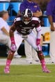 Oct 5, 2013; Starkville, MS, USA; Mississippi State Bulldogs defensive back Deontay Evans (24) during the game against the LSU Tigers at Davis Wade Stadium.  LSU Tigers defeated the Mississippi State Bulldogs 59-26.  Mandatory Credit: Spruce Derden-USA TODAY Sports